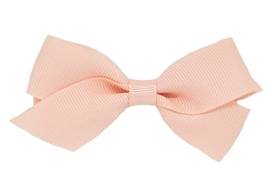 Newborn or toddler hair bow, classic grosgrain bow hair clips perfect for babies. Shown in moonstone on a bitty clip.