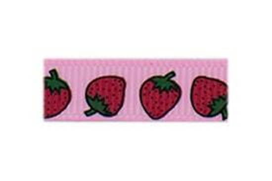 Our pink strawberry baby barrette is super sweet for a summertime look!