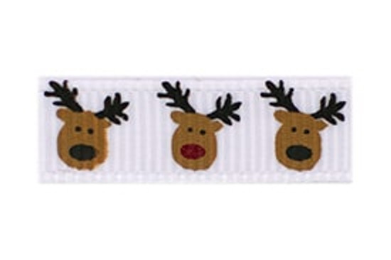 Christmas Rudolph and Reindeer Baby Barrette
