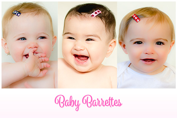 Our baby barrettes are the perfect accessory when you want a hair clip that stays in the finest of hair