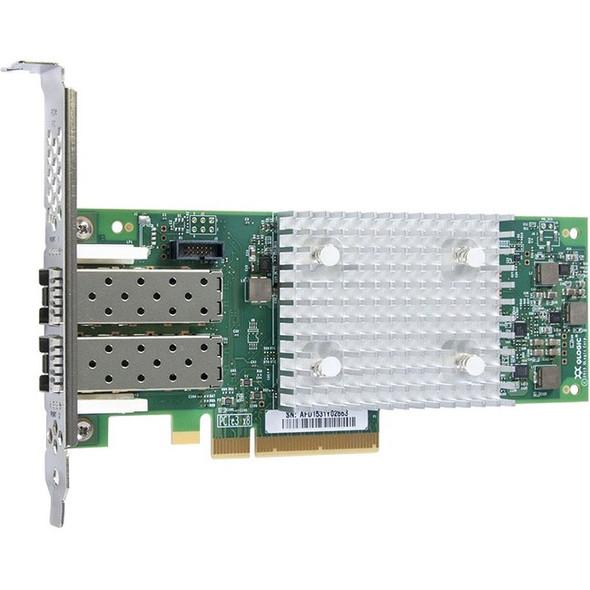 QLogic QLE2742 Dual-port Gen 6 Fibre Channel, Low Profile PCIe Card - QLE2742-SR-CK