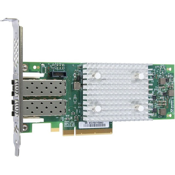 QLogic QLE2742 Dual-port Gen 6 Fibre Channel, Low Profile PCIe Card - QLE2742-SR-CK
