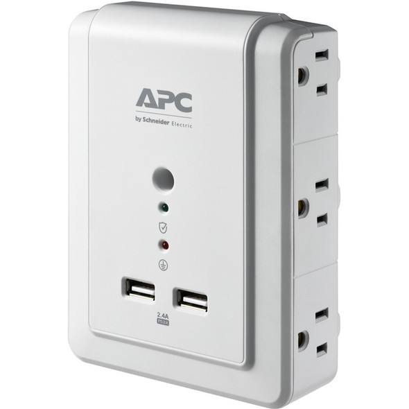 APC by Schneider Electric Essential SurgeArrest 6 Outlet Wall Mount With USB, 120V - P6WU2