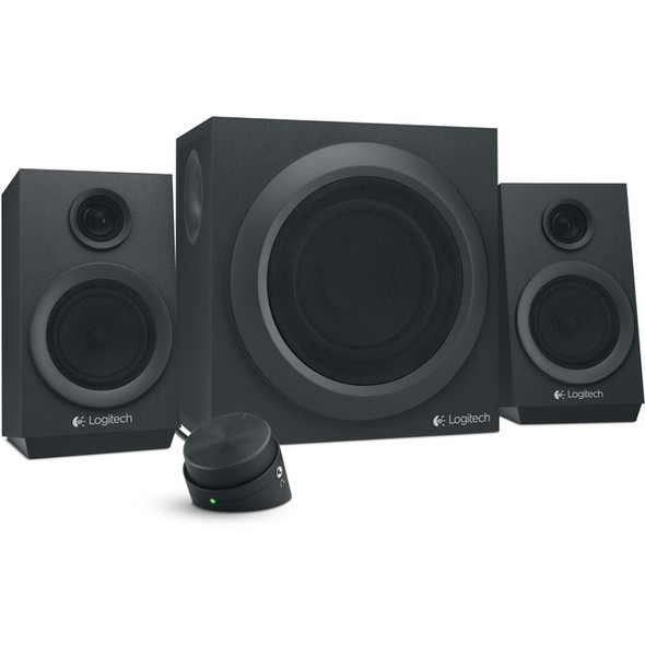 Logitech Z333 2.1 Speaker System - 40 W RMS - Black - 980-001203