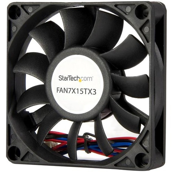 StarTech Replacement 70mm Ball Bearing CPU Case Fan - TX3 Connector - Case fan - 70 mm - black - FAN7X15TX3