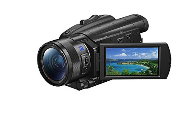 Sony Handycam FDR-AX700 - Camcorder - 4K / 30 fps - 14.2 MP - 12x optical zoom - Carl Zeiss - flash card - Wi-Fi, NFC - black