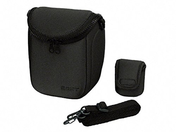 Sony LCS-BBF/B - Case for digital photo camera with lenses - polyurethane - black - for Cyber-shot DSC-HX60, RX100, a NEX 5N, 5ND, 5NK, 5NY, a5000, a6000, a6300, a6500, a7, a7R