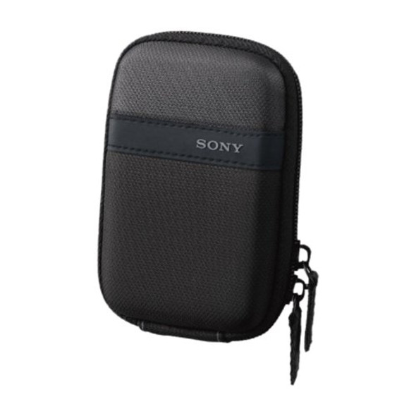 Sony LCS-TWP - Case for camera - nylon - black - for Cyber-shot DSC-TX30, DSC-TX300, DSC-TX300V, DSC-W710, DSC-W730, DSC-WX300, DSC-WX80
