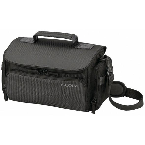 Sony LCS-U30 - Case for digital photo camera / camcorder - nylon, polyamide - black - for Sony RX0, Cyber-shot DSC-RX10, RX100, Handycam FDR-AX43, AX45, AX60, a7 III, a9 II
