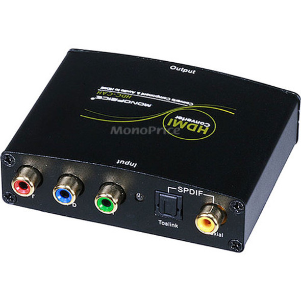 Monoprice Component (YPbPr) & S/PDIF Digital Coax/Optical Toslink Audio to HDMI Converter - 5971