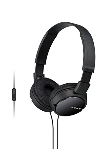 Sony MDR-ZX110AP - Headphones with mic - full size - wired - 3.5 mm jack - black