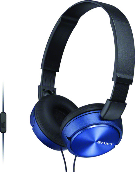 Sony MDR-ZX310AP - ZX Series - headphones with mic - on-ear - wired - 3.5 mm jack - blue