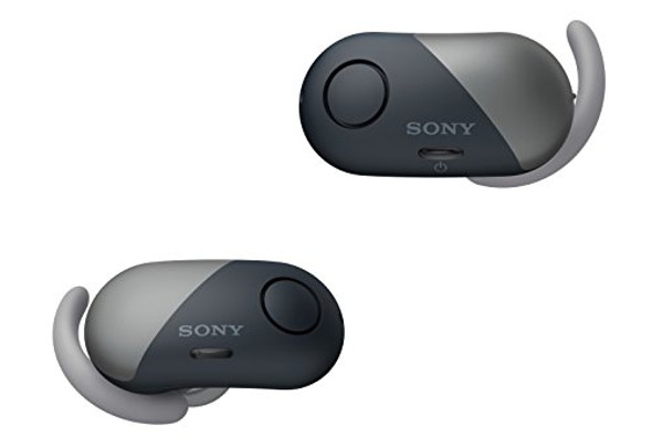 Sony WF-SP700N - Earphones with mic - in-ear - Bluetooth - wireless - NFC - active noise canceling - black