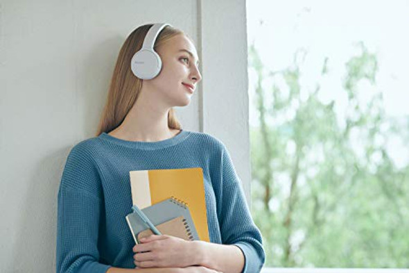 Sony Wireless Headphones WH-CH510: Wireless Bluetooth On-Ear Headset with Mic for phone-call, White (Amazon Exclusive)