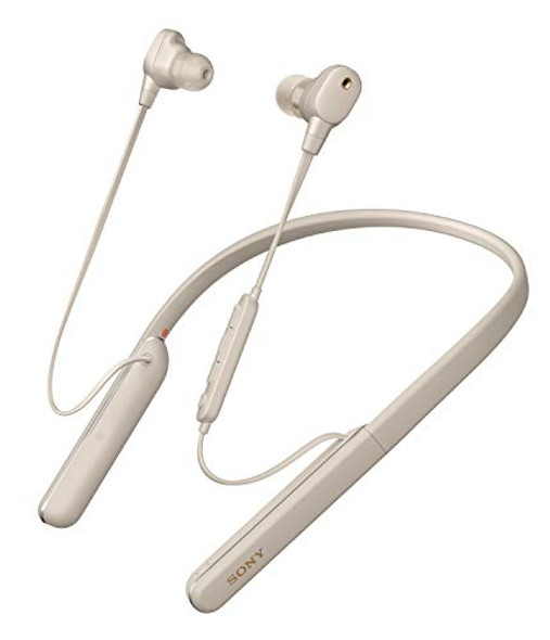 Sony WI-1000XM2 - Earphones with mic - in-ear - neckband - Bluetooth - wireless - NFC - active noise canceling - silver