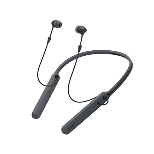 Sony - C400 Wireless Behind-Neck in Ear Headphone Black (WIC400/B)