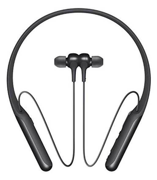 Sony WI-C600N - Earphones with mic - in-ear - behind-the-neck mount - Bluetooth - wireless - NFC - active noise canceling - black