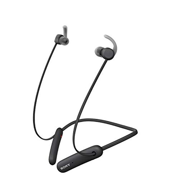 Sony WI-SP510 - Earphones with mic - in-ear - neckband - Bluetooth - wireless - black