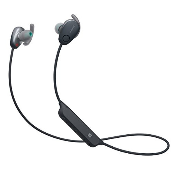 Sony WI-SP600N - Earphones with mic - in-ear - Bluetooth - wireless - NFC - active noise canceling - black