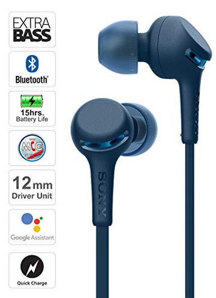 Sony WI-XB400 Wireless in-Ear Extra Bass Headset/Headphones with mic for Phone Call, Blue (WIXB400/L)