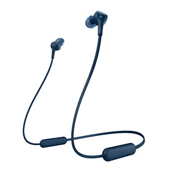 Sony WI-XB400 - Earphones with mic - in-ear - behind-the-neck mount - Bluetooth - wireless - blue