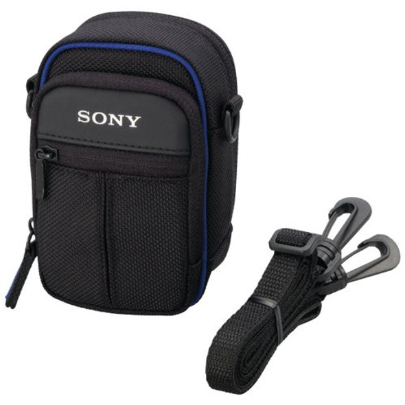 Sony LCS-CSJ - Case for camera - polyamide - black - for Cyber-shot DSC-HX60, HX80, RX100, WX170, WX30, WX700, Cyber-shot U, VPL-ES1