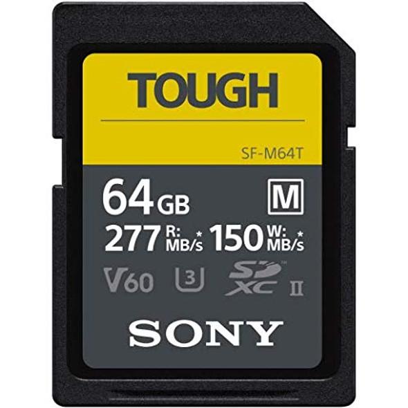 Sony SF-M Series Tough SF-M64T - Flash memory card - 64 GB - UHS-II U3 / Class10 - SDXC UHS-II