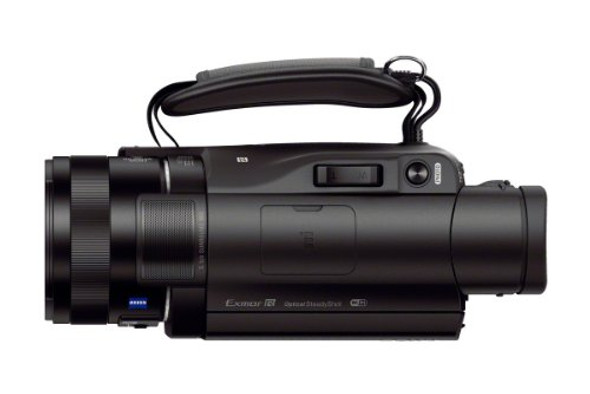 Sony Handycam FDR-AX100 - Camcorder - 4K - 20.9 MP - 12x optical zoom - Carl Zeiss - flash card - Wi-Fi, NFC - black