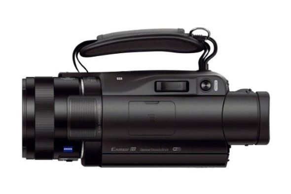 Sony Handycam FDR-AX100 - Camcorder - 4K - 20.9 MP - 12x optical zoom - Carl Zeiss - flash card - Wi-Fi, NFC - black