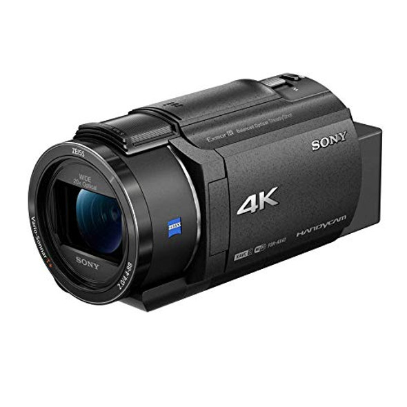 Sony Handycam FDR-AX43 - Camcorder - 4K / 30 fps - 8.57 Mpix - 20x optical zoom - Carl Zeiss - flash card - Wi-Fi, NFC - black