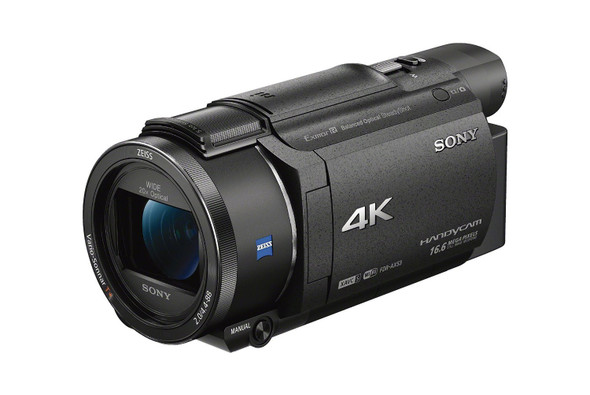 Sony Handycam FDR-AX53 - Camcorder - 4K / 30 fps - 16.6 Mpix - 20x optical zoom - Carl Zeiss - flash card - Wi-Fi, NFC - black