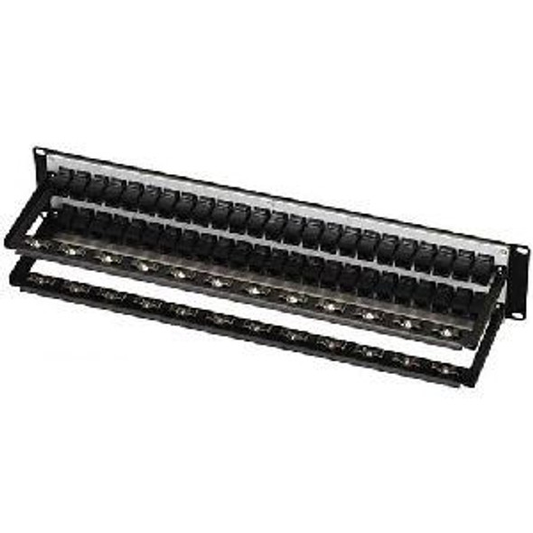 Black Box Feed-Through 48 Port Cat 5e Network Patch Panel - JPM810A-R2