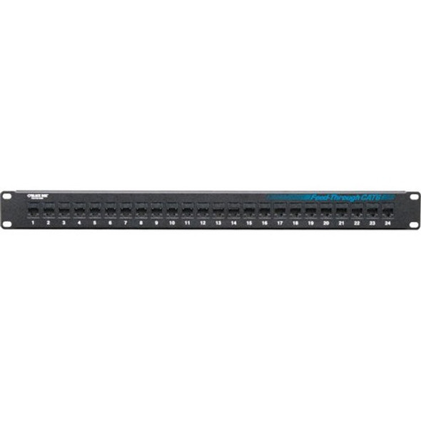 Black Box CAT6 Feed-Through Patch Panel - Unshielded, 24-Port - JPM818A