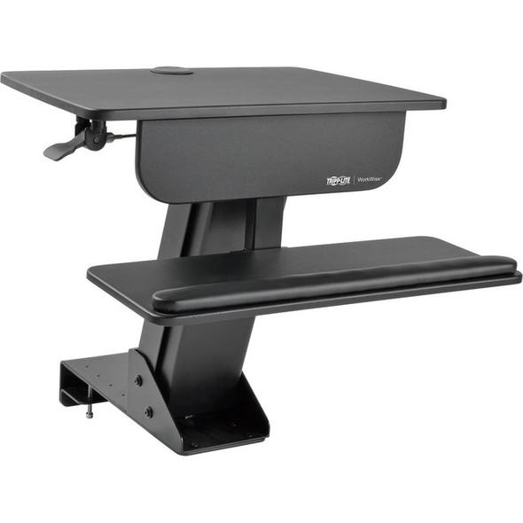 Tripp Lite WorkWise Sit Stand Desktop Workstation Adjustable Standing Desk w/ Clamp - WWSSDC