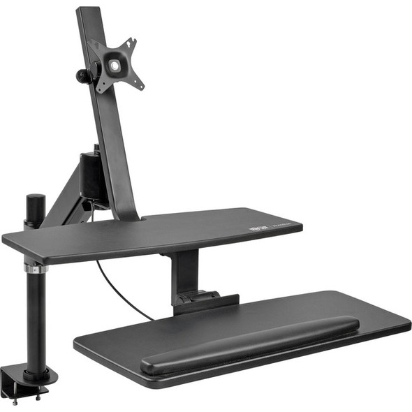Tripp Lite WorkWise Single-Monitor Sit-Stand Desk Clamp Workstation - WWSS1327CP