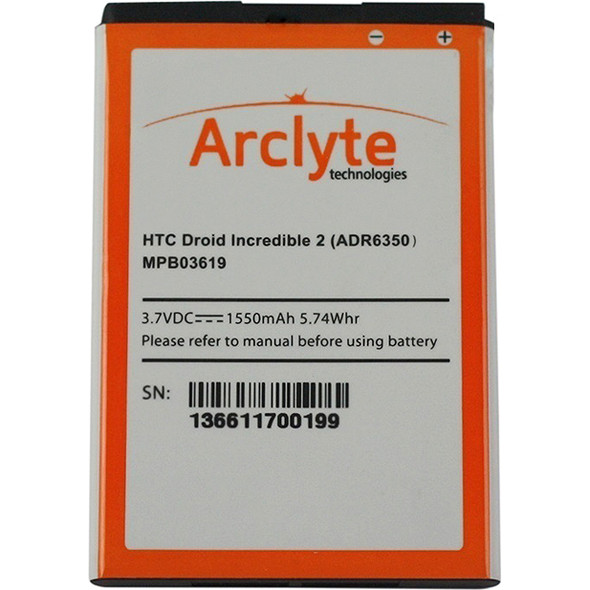 Arclyte HTC Batt ADR6350; Droid Incredible 2 - MPB03619