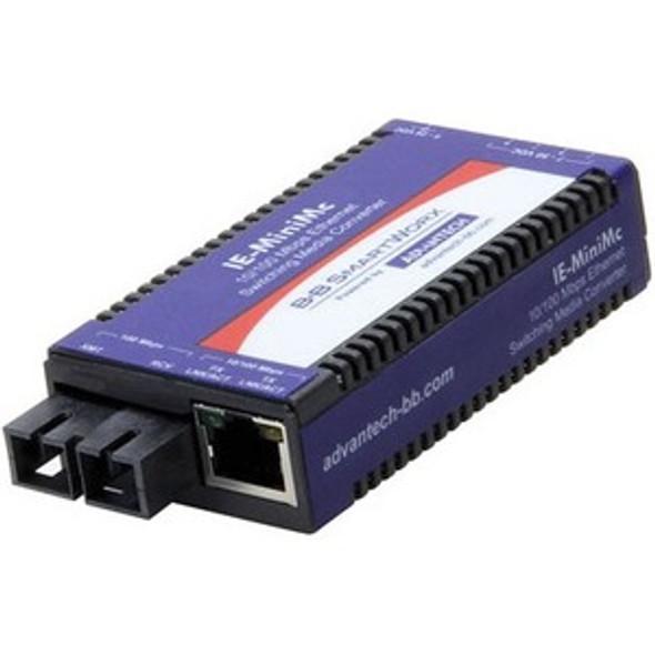 Advantech 10/100Mbps Miniature Media Converter - IMC-350I-M8-PS