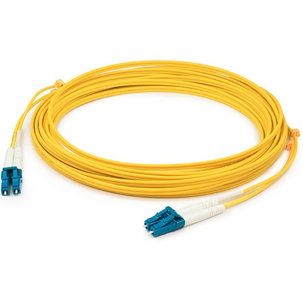 AddOn 0.5m LC (Male) to LC (Male) Yellow OS1 Simplex Fiber OFNR (Riser-Rated) Patch Cable - ADD-LC-LC-0.5MS9SMF