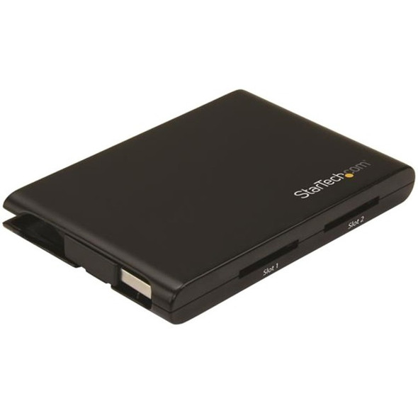 StarTech 2 Slot USB 3.0 SD Card Reader w/ UASP - SD 4.0 UHS II - TAA Compliant - USB SD Card Reader - Dual SD Card Reader - 2SD4FCRU3
