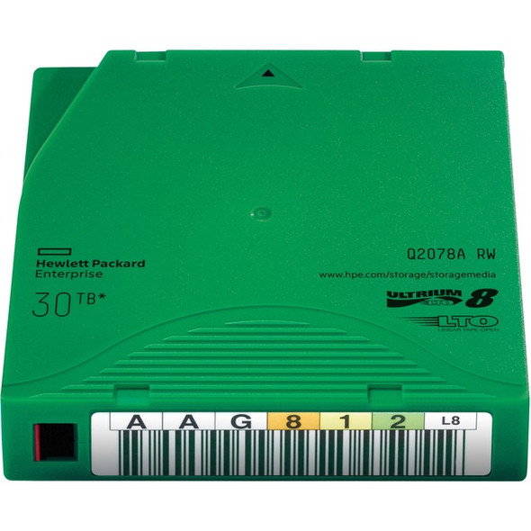 HPE LTO-8 Ultrium 30TB RW Data Cartridge - Q2078A