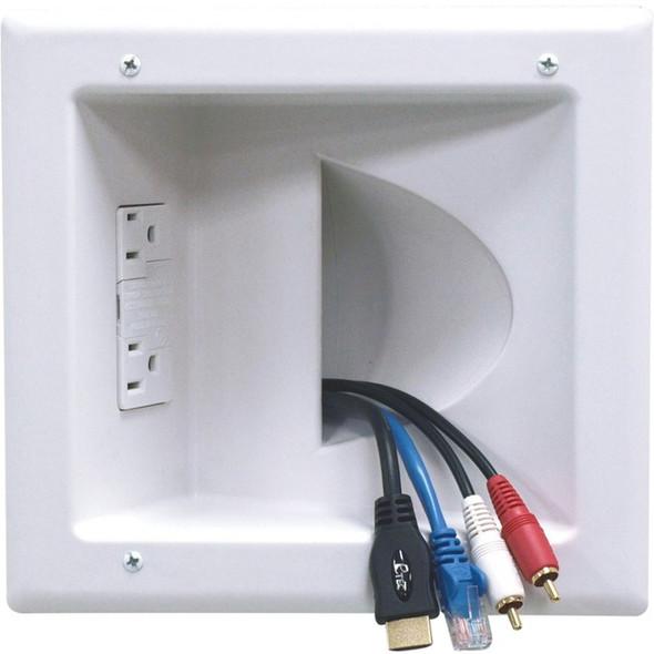 Peerless-AV Recessed Low Voltage Media Plate With Duplex Surge Suppressor - IBA5-W