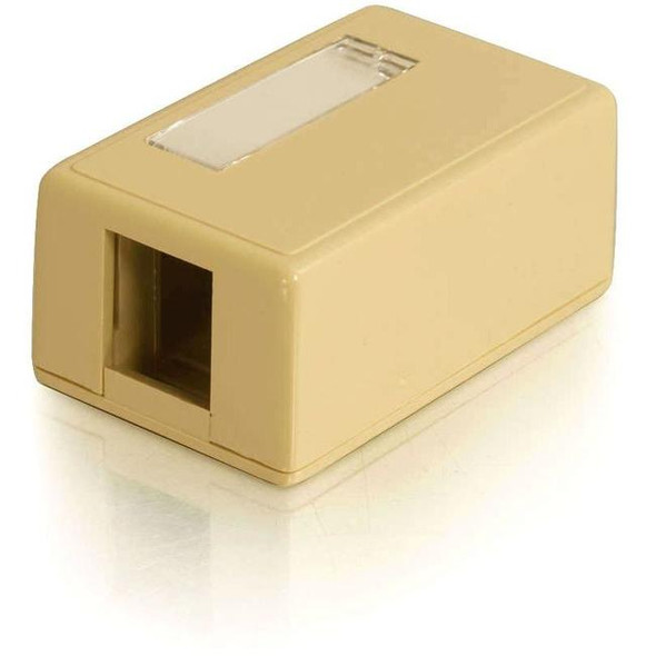 C2G 1-Port Keystone Jack Surface Mount Box - Ivory - 3830