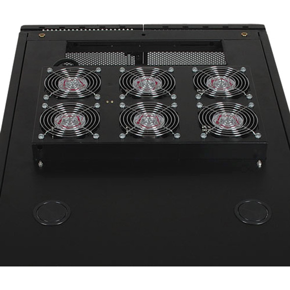 Tripp Lite Intl Rack Enclosure Server Cabinet Roof Mount Fan Panel Airflow Mgmt 230V - SRXFANROOF