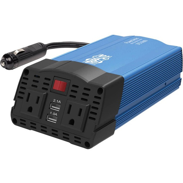 Tripp Lite 375W Car Power Inverter 2 Outlets 2-Port USB Charging AC to DC - PV375USB