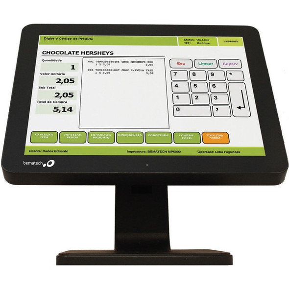 "Bematech LE1015 15"" LCD Touchscreen Monitor - 12 ms - LE1015"