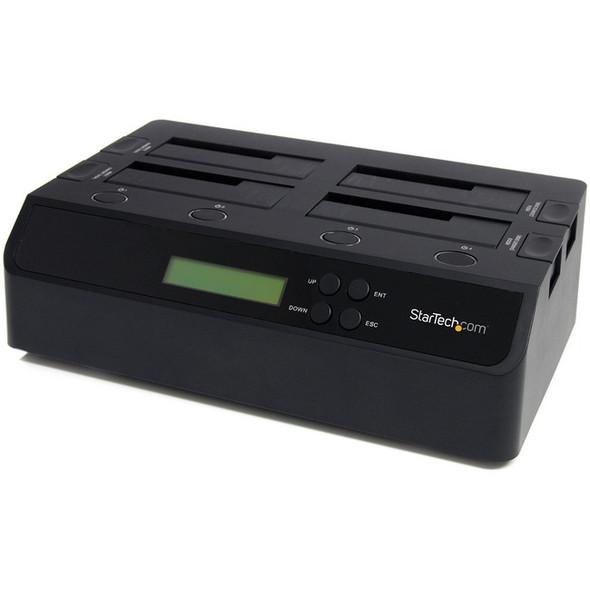 StarTech 4 Bay USB 3.0 eSATA to SATA Standalone 1:3 HDD Hard Drive Duplicator Dock - SATDOCK4U3RE