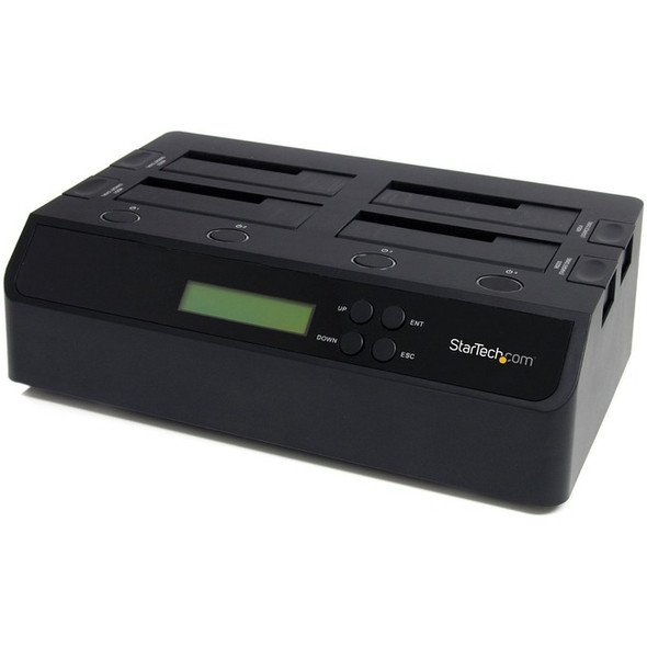 StarTech 4 Bay USB 3.0 eSATA to SATA Standalone 1:3 HDD Hard Drive Duplicator Dock - SATDOCK4U3RE