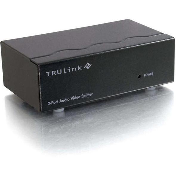 C2G 2-Port UXGA Monitor Splitter/Extender with 3.5mm Audio (Female Input) - 39967