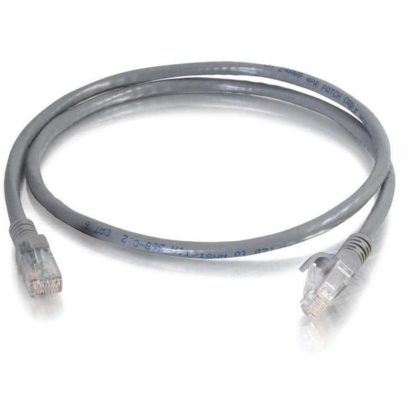 C2G 1 ft Cat6 Snagless Unshielded (UTP) Network Patch Cable (TAA) - Gray - 10301