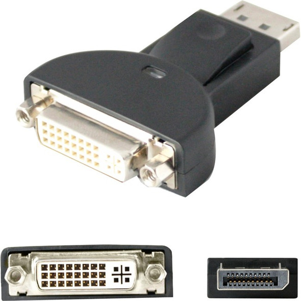 AddOn DisplayPort Male to DVI-I Female Black Adapter (Requires DP++) - DISPLAYPORT2DVIADPT
